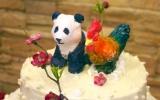 chicken panda wedding cake